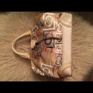 Liz Clairborne signature print satchel